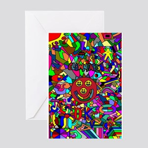 Clownface OK Greeting Happy Birthday Card