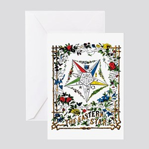 Vintage Eastern Star Signet Greeting Card