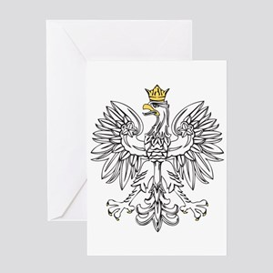 Polish Eagle With Gold Crown Greeting Card