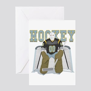 Hockey Goalie Greeting Card