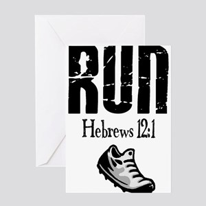 run hebrews Greeting Card