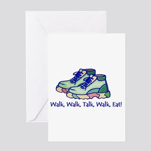 Walk, Eat, Talk Greeting Cards