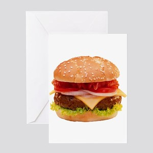 yummy cheeseburger photo Greeting Card