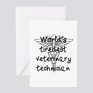 Tiredest Vet Tech Greeting Card