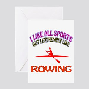 Rowing Design Greeting Card