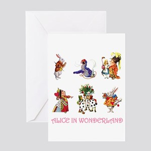 Alice & Friends in Wonderland Greeting Card