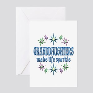 Granddaughters Sparkle Greeting Card