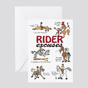 Rider Excuses Greeting Card