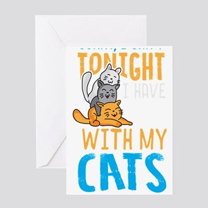 Cats Cat Lover Plans with Cats Cat Greeting Cards