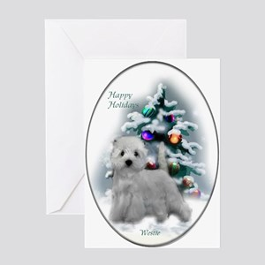 West Highland White Terrier Christma Greeting Card