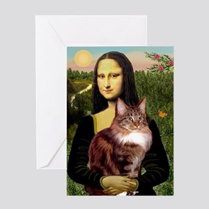 Mona's Maine Coon Greeting Card