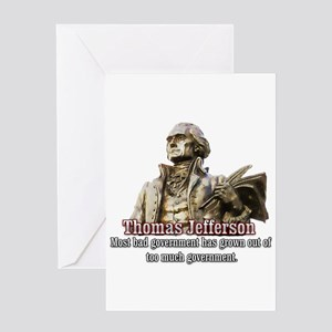 Thomas Jefferson founding father Greeting Card