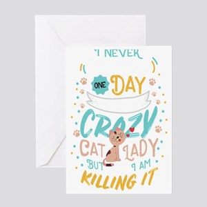 Cats Cat Lover Crazy Cat Lady Cat L Greeting Cards