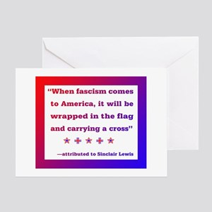 When fascism comes to America Greeting Cards