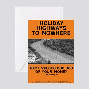 Holiday Highways to Nowhere (large) Greeting Card