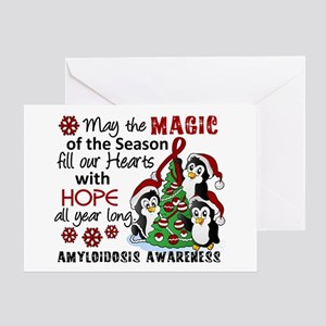 Christmas Penguins Amyloidosis Greeting Card