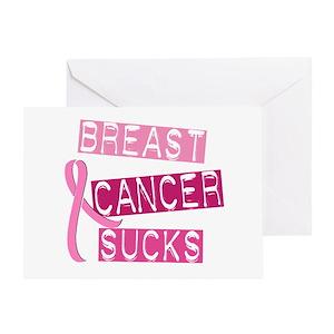 Breast Cancer Sucks 3 Greeting Card