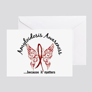 Amyloidosis Butterfly 6.1 Greeting Card