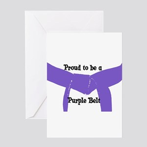 Proud to be a Purple Belt Greeting Card