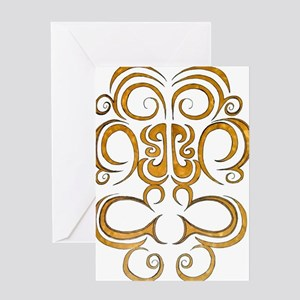 Pacific island inspired tribal desig Greeting Card