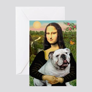 Mona's English Bulldog Greeting Card