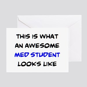 awesome med student Greeting Card