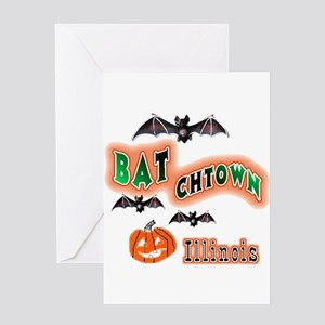 BATchtown , Illinois Hallowee Greeting Card