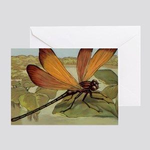 Dragonfly Painting Greeting Card