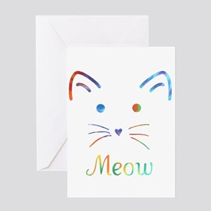 Meow Greeting Cards