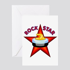 """Rock Star (Curling)"" Greeting Card"