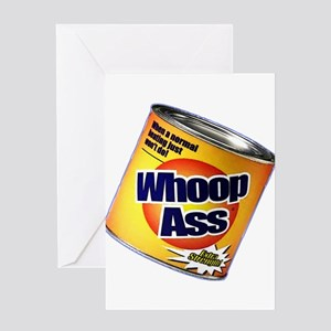 Funny Can Of Whoop Ass Greeting Card