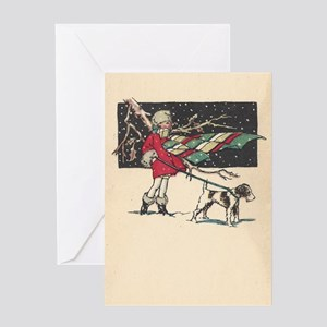 fox terrier holiday blank Greeting Card