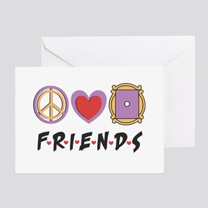 Peace Love Friends Greeting Cards