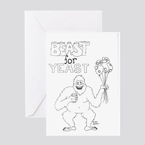 Beast for Yeast Greeting Card