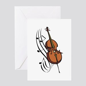 CELLO AND MUSIC Greeting Cards