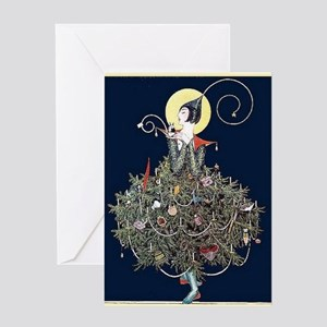 Deco Christmas Tree Card Greeting Cards