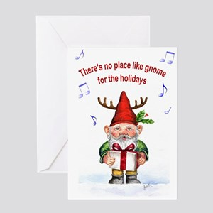 Gnome Holiday Card Greeting Cards