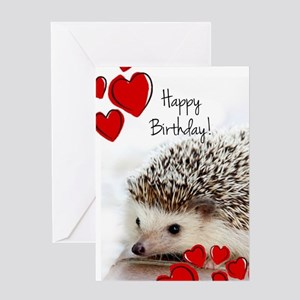 Happy Birthday Hedgehog Greeting Cards