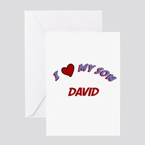 I Love My Son David Greeting Card
