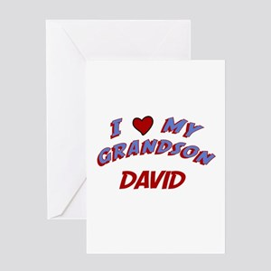 I Love My Grandson David Greeting Card