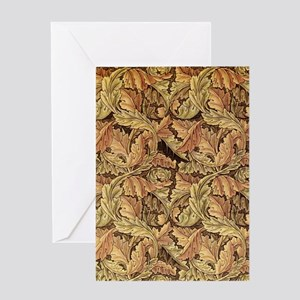 Art Nouveau Autumn Vines Greeting Card