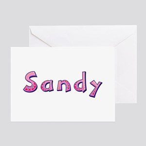 Sandy Pink Giraffe Greeting Card