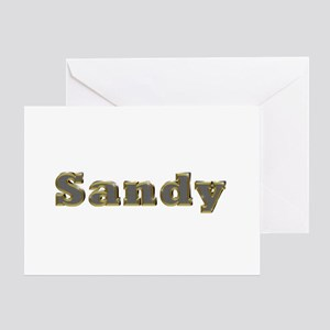 Sandy Gold Diamond Bling Greeting Card