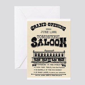 Tombstone Saloon Greeting Card