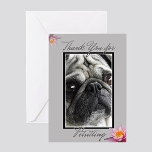Thank You Petsitter Pug Dog Greeting Cards