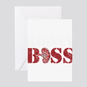 Kidney Doctor Urologist Kidney Boss Greeting Cards