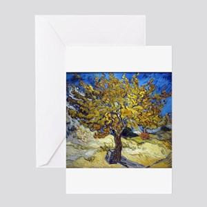 Van Gogh Mulberry Tree Greeting Cards