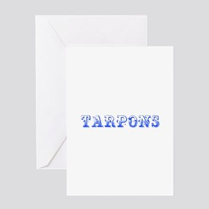 Tarpons-Max blue 400 Greeting Cards