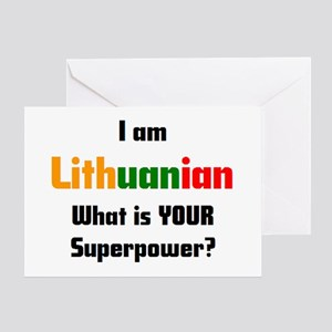 i am lithuanian Greeting Card