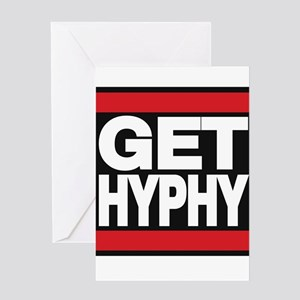 get hyphy lg red Greeting Card